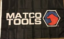Matco Tools Flag 3x5 Black Banner Garage Man cave Automotive And storage