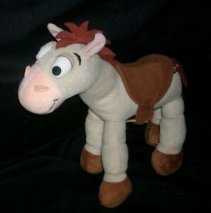 "10"" DISNEY STORE TOY EXCLUSIVE STORY BROWN HORSE BULLSEYE STUFFED ANIMAL PLUSH"