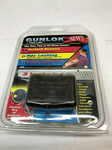 PRO-LOK GUNLOK - GL100 - KEY LOCKING - CABLE SECURED - 3 LOCKS IN 1 - NIP