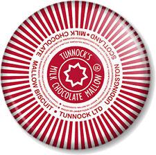"""Tunnocks Tea Cake Wrapper 1"""" Pin Button Badge Scottish Chocolate Mallow Teacakes"""