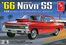 1:25 AMT 1966 Chevrolet NOVA SS (2 in 1) Stock Custom Plastic Model Kit *MISB*