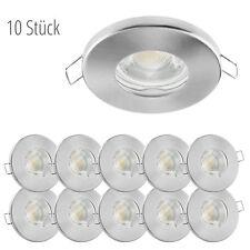 10x linovum® LED Einbauspots Set flach IP65 für Bad, Dusche, Außen 3W warmweiß