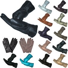 LADIES GENUINE SOFT LEATHER GLOVES PREMIUM INSULATED LINING WARM DRIVING