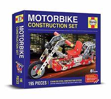MOTORBIKE CONSTRUCTION SET 195 PIECE HAYNES STAINLESS STEEL SYSTEM Meccano Like