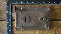 L318 Reclaimed Old Victorian Rim Lock / Door Latch