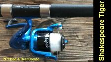 New listing Shakespeare Tiger Spinning Combo, 2-pc. 7 ft.Rod: Size 50 Reel ~ All New w/line