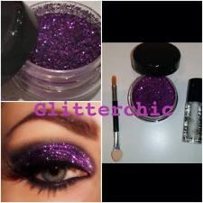Glitzer Augen lila, mit Fix Gel, Anwendungen Stab, einzeln Glitzer 10g. SPARKLY