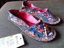 ROXY Floral Fabric Slip On Espadrille Style Sandals UK13 EU32 Navy Mix BNWT