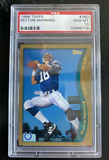 1998 Topps Peyton Manning #360 PSA 10 Pristine!! HOF MVP Colts Broncos RC