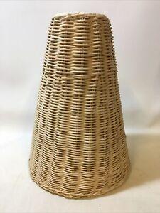 Vintage Retro Rattan Wicker Lampshade