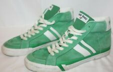 Vintage 70s PRO-KEDS Mens  Green Suede White High top Basketball Sneakers SZ 13M