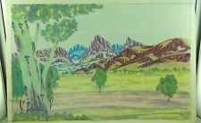 .CONLEY EBATARINJA (1959-2013) SIGNED HERMANNSBURG WATERCOLOUR ON BOARD.