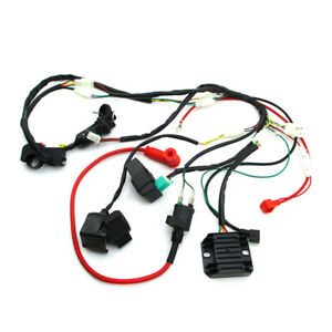 Zongshen 190cc Wiring Loom Harness Key Switch Ignition CDI Kit For Pit Dirt Bike