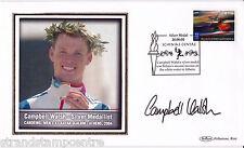 2004 Athens Olympics - Benham GB Medal Winners Silk - Signed CAMPBELL WALSH