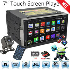 """7"""" Android Double 2 DIN In dash Car stereo Radio DVD Player GPS Navi WiFi + Cam"""