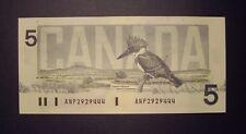 Canada 1986 BC-56d $5 Changeover Note ANP2929444 - GemUnc