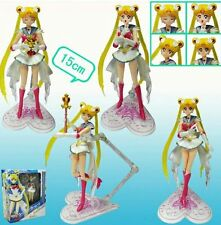 "SAILOR MOON/ FIGURA SUPER SAILOR 15 CM- ANIME FIGURE TSUKINO USAGI 6"" BOX"
