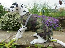 "Medium Dog Coat. Quilted-Waterproof. 14"" Long 20-22"" Wide. Camouflage"