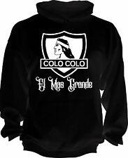 COLO COLO CHILE Futbol Soccer Black hoodie Camiseta Garrido Jersey Handmade
