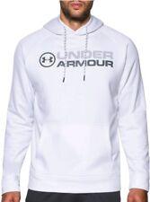 Under Armour Men's Storm Fleece Wordmark Hoodie White Size L