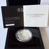 2013 UK 60th Anniversary of Coronation Silver Proof 5oz Coin