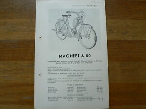 MAGNEET A 50 BROMFIETS 1952 ONWARDS SERVICE AND REPAIR GUIDE MOPED MOFA WEESP