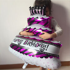 Happy Birthday Cake Shape Foil Helium Balloon Birthday Party Decoration BW