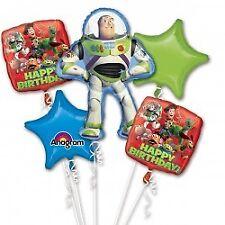 Disney Toy Story Balloon Bouquet Foil Buzz Lightyear Woody 5 Balloons Pixar
