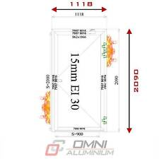 Brandschutz Aluminiumtüre, T30 Brandschutztür, Breite 1118 mm x Höhe 2090 mm