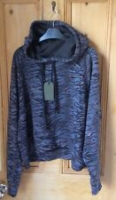 BNWT ALL SAINTS BLUE TIGER ANIMAL PRINT SWEATSHIRT TOP HOODIE HOODY JUMPER L 14