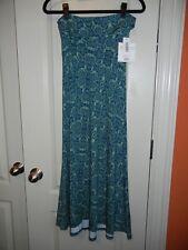 LuLaRoe - Maxi Skirt - Blue w/ green geom - XXS - NEW with tags