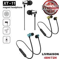 Ecouteurs XT11 Bluetooth 4.2 Casque Magnétique Sans Fil Sport Headphone Stereo