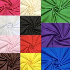 """Plain Polycotton Fabric Poly Cotton Dress Craft 150cm 60"""" Wide Colours Per Metre"""