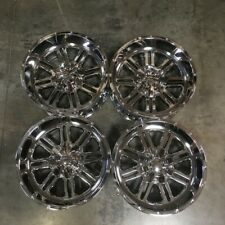 Used 20x10 Truck fit lifted Chevy Ford 6x135/6x5.5 -24 Chrome Wheels set(4)