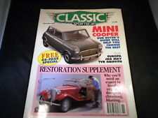 Classic & Sportscar Nov 1992 - Mini Cooper - Restore Supplement - TVR Griffith -