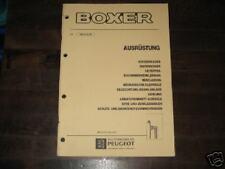 Werkstatthandbuch Peugeot Boxer, Ausrüstung, Stand 1995