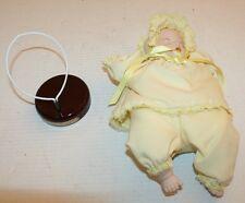 Vintage Musical Porcelain Sleeping Infant Baby Doll Summer Angel Middleton? Guc