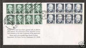 US Sc 1278a, 1393a on 1971 1c & 6c Combination FDC, Experimental Gum, unlisted