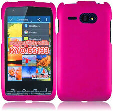 For Kyocera Event C5133 Rubberized HARD Snap Protector Phone Case Cover Hot Pink
