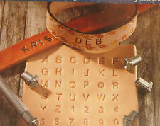 "Leather Stamp Set - 36pc 1/4"" / 0.25 in Metal Alphabet & Numbers by Artminds New"