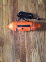 Vintage Metropolitan Vacuum Cleaner 115V Orange Portable Canister Model VM-896