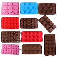 14 Style DIY Silicone Chocolate Mold Cake Jelly Candy Ice Cube Mold Baking Tool
