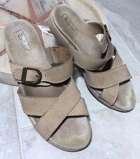 ROCKPORT Womens Size 7 Walking Sandal Leather Slide / Suede Insoles