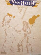 Vintage NOS 1980's Van Halen Band Tour T-Shirt Transfer Memorabilia 012