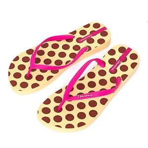Ipanema Women's flip flops Rubber Sandals thong Brazil Beach Yellow Pink Dots