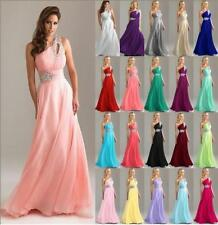 Long Chiffon Formal Wedding Evening Party Dresses Bridesmaid Ball Gown Size 6-28