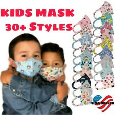 Kids Face Mask Reusable Washable Easy Breath Stretch Cover Mouth & Nose Boy Girl