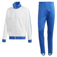 adidas ORIGINALS MEN'S BECKENBAUER TRACKSUIT TOP PANTS WHITE BLUE RETRO VINTAGE