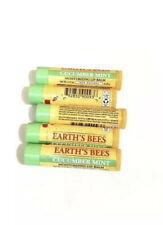 Lot of 5 Burt's Bees Limited Edition Earth's Bees Cucumber Mint Lip Balm 0.15 oz