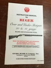 Ruger Over Under Shotgun 20 12 Gauge Factory Owners Manual Instruction Booklet